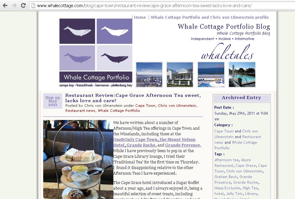 Spotlight on Whale Cottage Blog | South African Food & Wine Blog